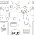 Online shopping set pattern vector image
