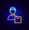 package courier neon sign vector image