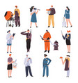 people different professions male and female vector image