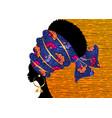 portrait beautiful african woman in ethnic turban vector image vector image