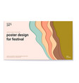 poster design for festival with abstract pattern vector image vector image
