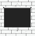 projector screen on brick wall vector image