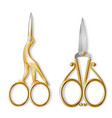 realistic two pairs of nail scissors vector image vector image