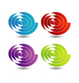 Ribbon scroll in different colors vector image vector image