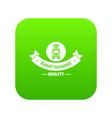robot smart icon green vector image