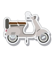 scooter sticker isolated icon design vector image vector image