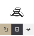 set of 4 editable finance icons includes symbols vector image vector image