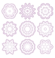Set of decorative rosettes vector image
