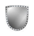 silver shield shape icon 3d gray emblem sign vector image vector image