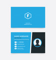 simple and modern business card vector image vector image