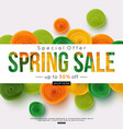 special offer spring sale banner template vector image vector image