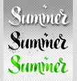 summer word watercolor brush painted lettering vector image