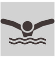 swimming butterfly icon vector image vector image