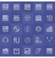 Synthesizer outline icons vector image