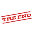 The End Watermark Stamp vector image