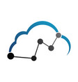 thin line icon with flat design element of cloud vector image vector image