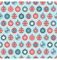 uk christmas pattern vector image vector image