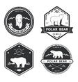 Vintage bear icons mascot emblems and vector image vector image