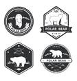 vintage bear icons mascot emblems vector image