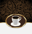 Vintage label for wrapping coffee coffee cup vector image vector image