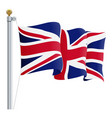 waving united kingdom flag uk flag isolated on a vector image
