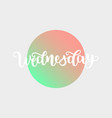 wednesday handwriting font by calligraphy vector image vector image