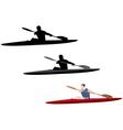 kayaking vector image