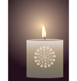 Candle with Flame vector image