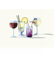 Cocktail drinks vector image