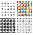 100 taxi icons set variant vector image vector image