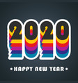 2020 happy new year background colorful design vector image vector image