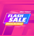 abstract flash sale modern background vector image
