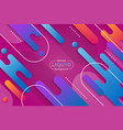 abstract fluid colorful shape liquid and line vector image vector image