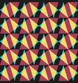 abstract geometric seamless pattern triangles vector image vector image