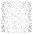adult coloring bookpage the flying birds in a vector image