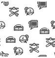 aircraft repair tool seamless pattern vector image