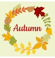 Autumn fallen colorful leaves frame vector image vector image