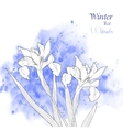 Background with watercolors and flowers-03 vector image