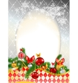 Beautiful decorated Christmas background vector image vector image