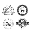 Bicycle bike vintage labels emblems vector image vector image