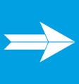 big arrow icon white vector image vector image