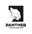 black panther logo design template vector image vector image