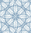 Blue Hand Drawn Floral Design vector image vector image