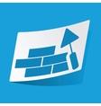 Building wall sticker vector image vector image