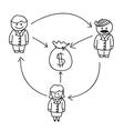 Business Money Flow vector image vector image