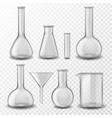 chemical glass equipment laboratory glassware vector image