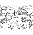 Chicken Coloring Pages vector image