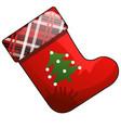 christmas cartoon red boot santa claus vector image vector image