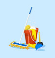 cleaning tools house icons for poster washing vector image