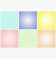 collection abstract colorful striped patterns vector image